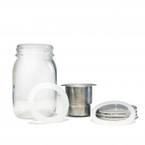 70mm Stainless Steel Glass Mason Jar Salad Lid for Regular Mouth