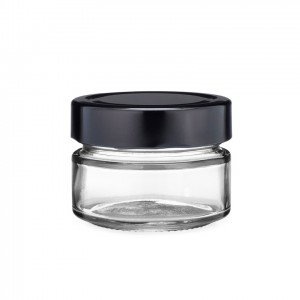 Renewable Design for Glass Jar For Canning - 106ml Glass Ergo Jars with Black Metal Lug Cap Jam Honey Food Canning  – Troy