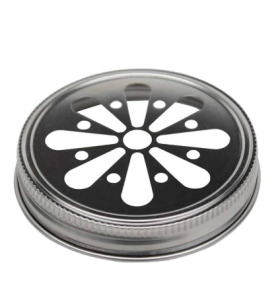 Regular Mouth Metal 70mm Daisy Cut Mason Jar Lid