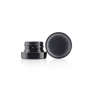 3ml 5ml mini child proof cosmetic eye cream hemp black glass jars