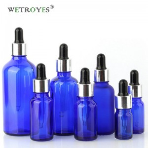 Cobalt Blue Cosmetic Glass Packaging Drop Glass for Essential Oil