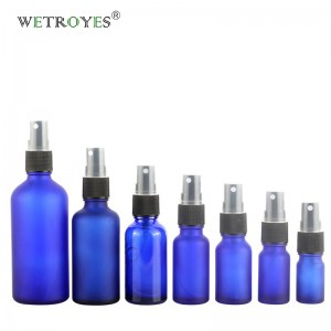 China Cosmetics Packaging Glass Bottles with Black Sprayer