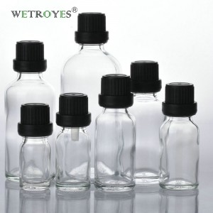 Clear Glass Bottle Essential Oil with Tamper Evident Cap