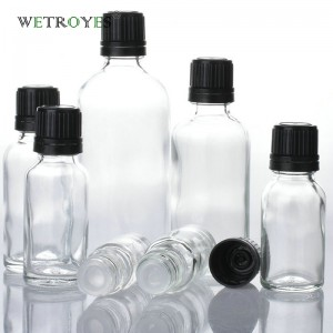 Empty Essential Oil Glass Bottle with Plastic Tamper Evident Cap