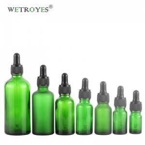 Manufacture Supplier Green Essential Oil Glass Bottle Dropper