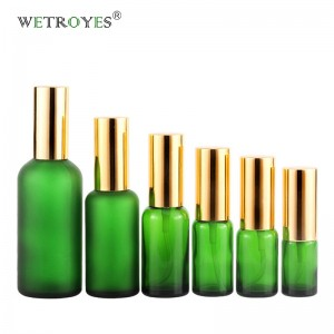 Wholesale Green Essential Oil Glass Bottles with Mist Sprayer