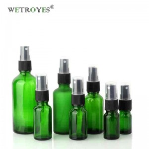 Wholesale Price Green Glass Essential Oil Bottles Spray