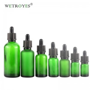 Essential Oil Diffuser Green Glass Bottles with Tamper Evident Dropper
