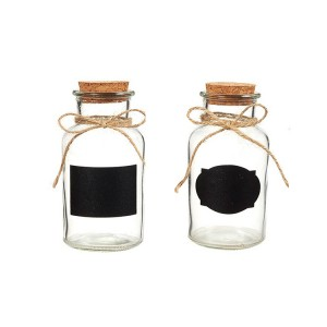 Glass Bottles with Cork Stoppers for  Party Favors 250ml