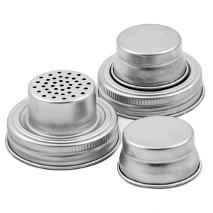 2017 Good Quality Trigger Sprayer - 304 Stainless Steel Mason Jar Shaker Lid Regular Mouth  – Troy