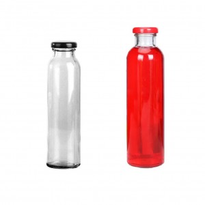 10 oz 300ml Cylinder Glass Beverage Juice Bottle with Twist Cap
