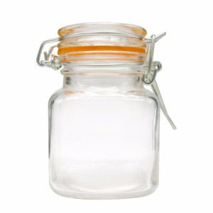 Small 100ml Clear Swing Top Glass Jar Spice Jar Candy Jar