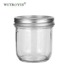 10oz 300ML Wide Mouth Glass Mason Jar with Metal Lid