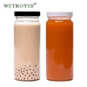 16oz Paragon Glass Bottle Boba Drinking Jar with 63mm Lid