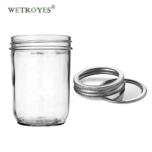 16oz 500ml Glass Mason Jar with 86mm Lid for Jam Food Storaging