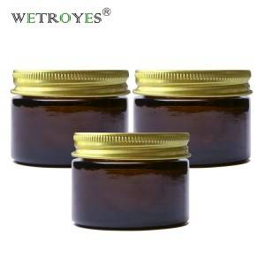 1oz Amber Glass Jars with Lids Round Empty Containers for Scrubs Cream