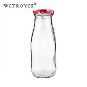 10oz 320ml Glass Milk Bottle with Metal Lug Cap