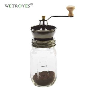 New Hand Mason Jar Coffee Ginder Lid for Regular Mouth