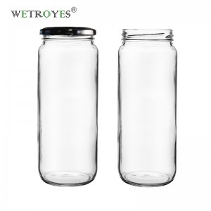 25oz 750ML Glass Paragon Jar with Metal Lids