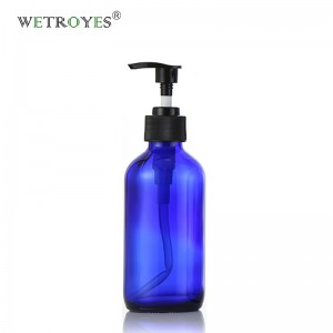 8 oz Cobalt Blue Glass Bottle for Liquid Soap Lotion Shampoo