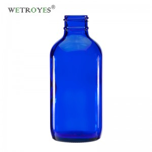 4oz 120ml Cobalt Blue Boston Round Glass Bottle