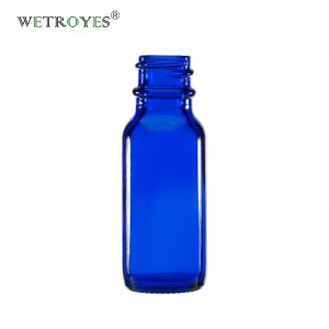 1/2oz 15ml Cobalt Blue Boston Round Glass Bottle