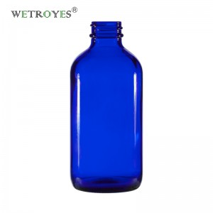 8oz 240ml Cobalt Blue Boston Round Glass Bottle