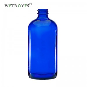 16oz 480ml Cobalt Blue Boston Round Glass Bottle