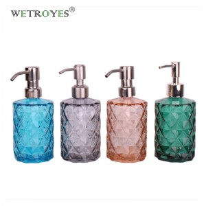 350ml Beautiful Glass Lotion Pump Hand Soap Dispenser Bottle