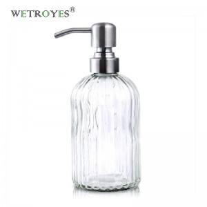 Glass Soap Dispenser with Rust Proof Stainless Steel Pump