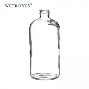 32oz Clear Glass Boston Bottle with 28/400 Neck Finish