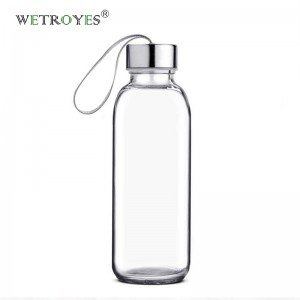 Wholesale 420ml Sports Glass Water Bottle