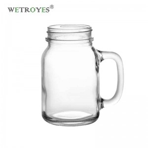 620ml 20OZ Handle Drinking Glass Mason Mugs Jars with Handle
