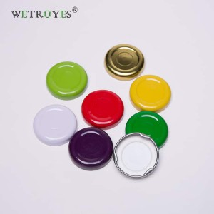 Safety Button 38mm Twist Off Metal Lids with Plastisol Liner