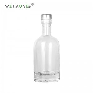 100ml Flint Heavy Base Nordic Glass Liquor Bottle