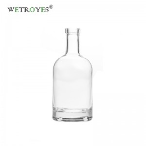 200 ml Flint Thick Base Nordic Glass Bottles for Liquor