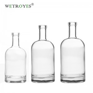 Wholesale Flint Glass Bottle for Liquor Vodka Gin