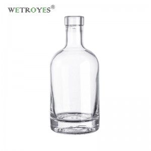 375 ml Clear Glass Nordic Liquor Bottle