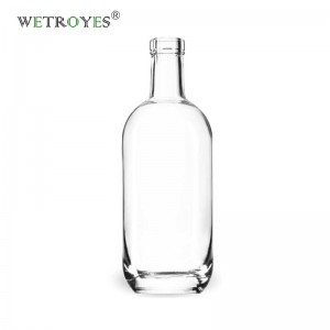 750ml Moonea Glass Spirits Liquor Bottle with Bar Top