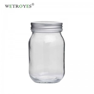 12oz 380ml Round Regular Mouth Glass Mason Jar
