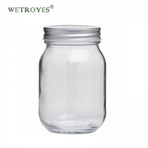 16oz 480ml Round Regular Mouth Glass Mason Jar