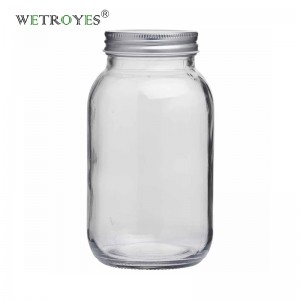 32oz 1000ml Round Regular Mouth Glass Mason Jar