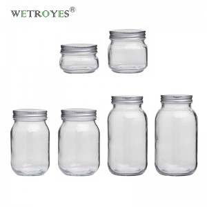 Wholesale Round Shape Regular Mouth Glass Mason Jar