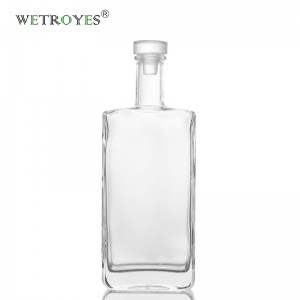 500ml Square Glass Bottle for Liquor