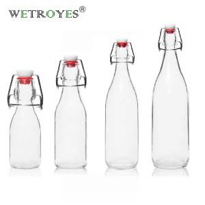 1000ml 500ml 250ml 100ml Swing Flip Top Glass Bottle for Kombucha Tea