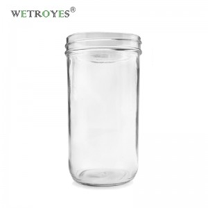 20oz 600ml Tapered Wide Mouth Glass Mason Jar