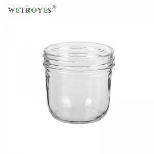 10oz Tapered Wide Mouth Glass Mason Jar