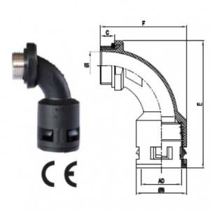 Good User Reputation for Conduit Pipe Fittings - 90°Bend Connector With Metal Thread – Weyer