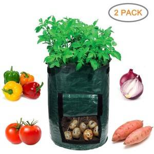 2-Pack Garden Planter Bag Grow Vegetables Eco-friendly PE Potato Grow Bag