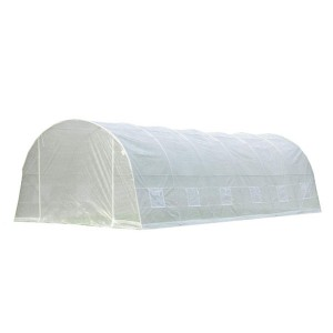 White PE Plastic Tunnel Greenhouse 8x3x2m